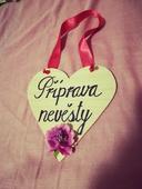 Cedulka - srdce - příprava nevěsty,