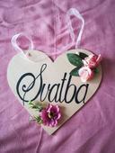 Srdce s nápisem svatba,