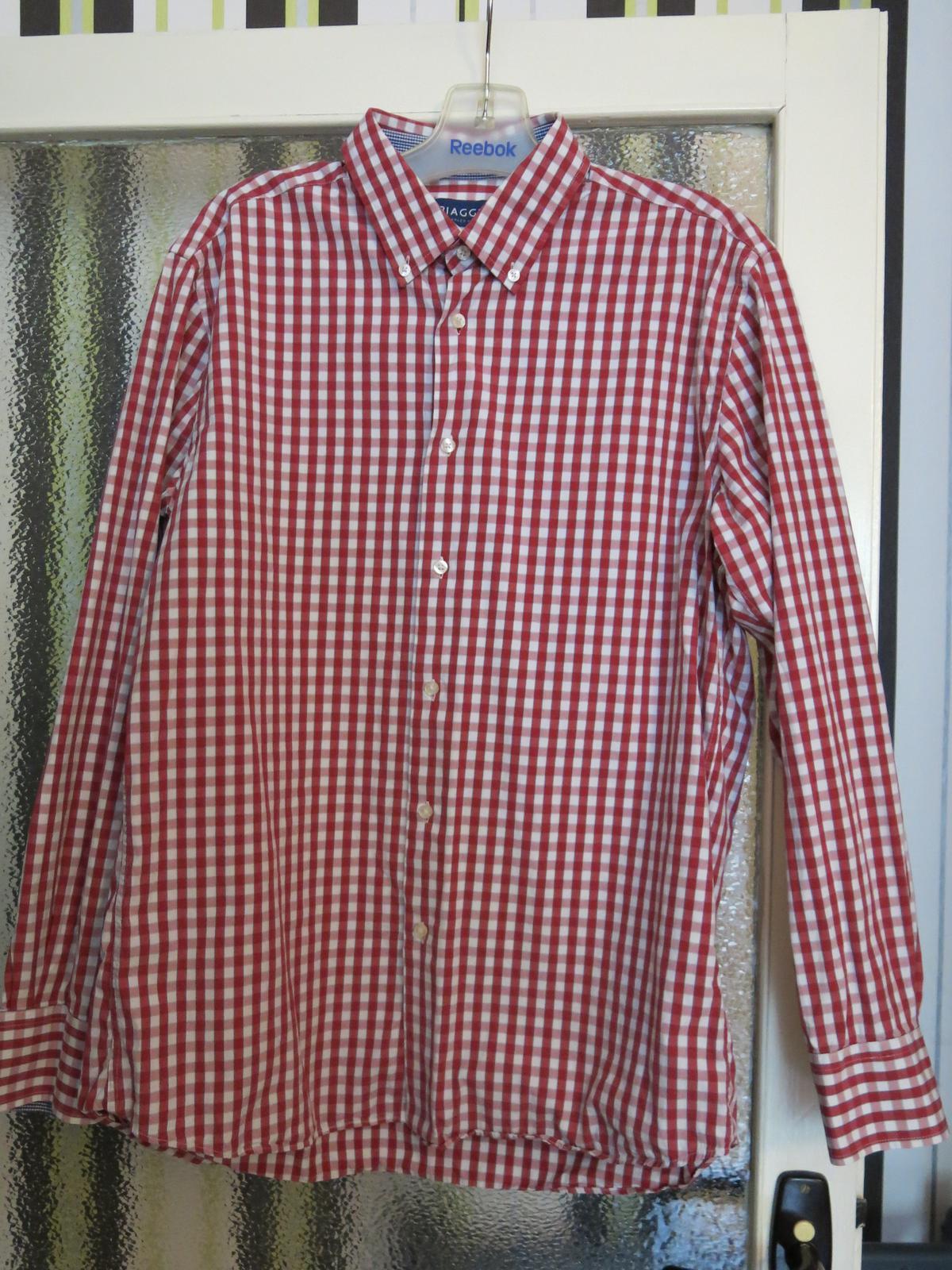 košile pánská červená kostka - Obrázok č. 1
