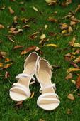 Stříbrné páskové boty pro nevěstu, 41