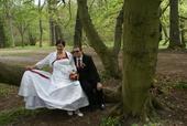 svatební šaty vel. 50-56 cca, 52