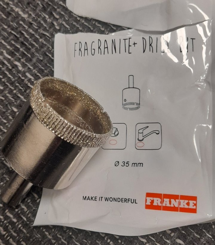 Fréza/vrták do fragranitových drezov Franke - Obrázok č. 1