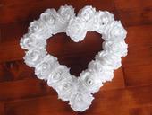 68. Veľké srdce z ruží - viac farieb 40cm,