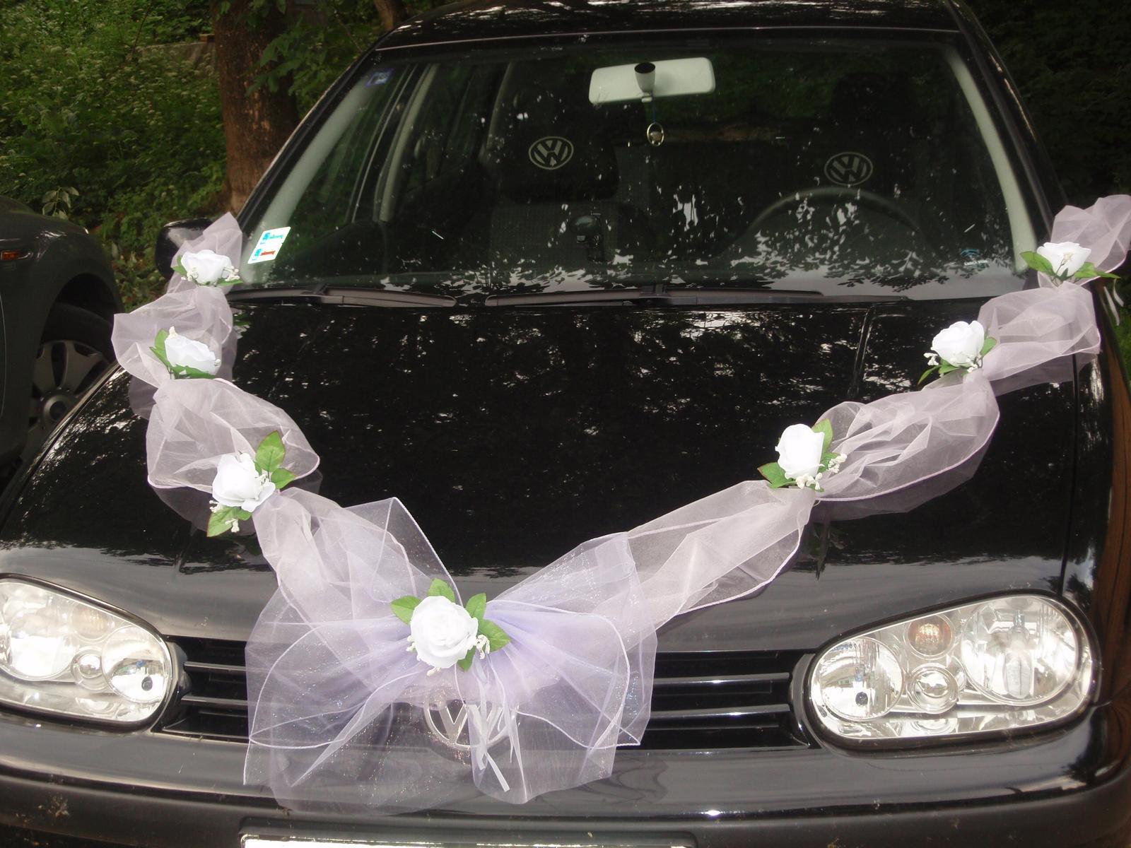 98. Výzdoba na auto s mašľou - viac farieb - Obrázok č. 1