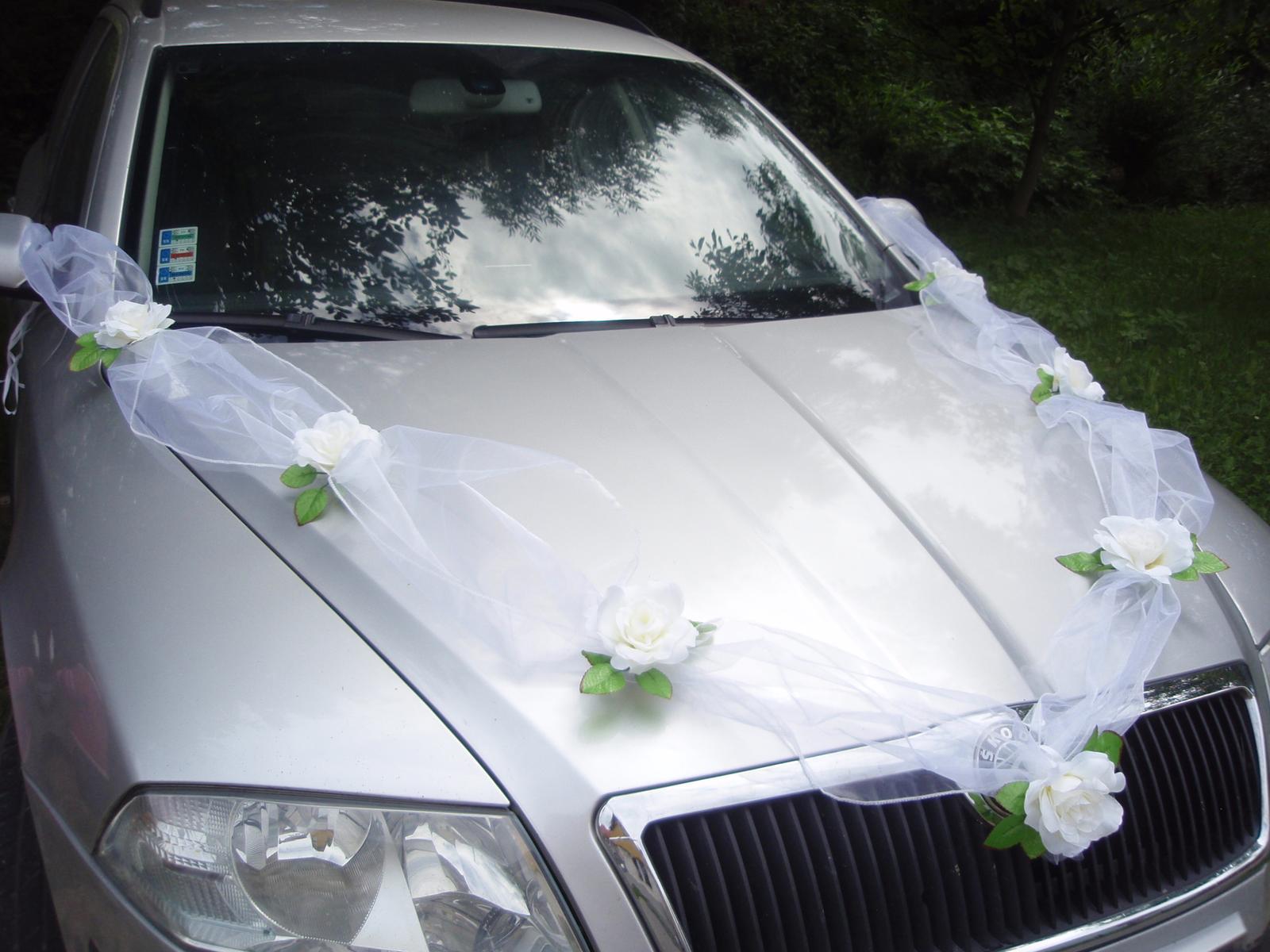 105. Výzdoba na auto so 7 ružami - viac farieb - Obrázok č. 1