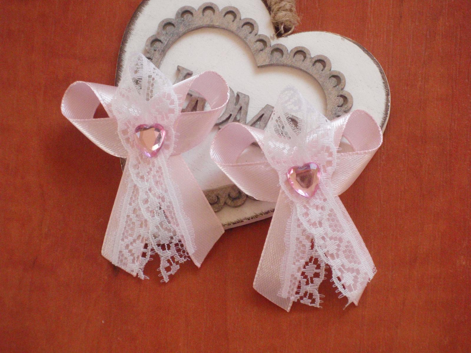 116. Pierka s čipkou a ružovým srdiečkom - Obrázok č. 1
