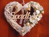 Č. 115 Marhuľkové srdce s nápisom Svadba,