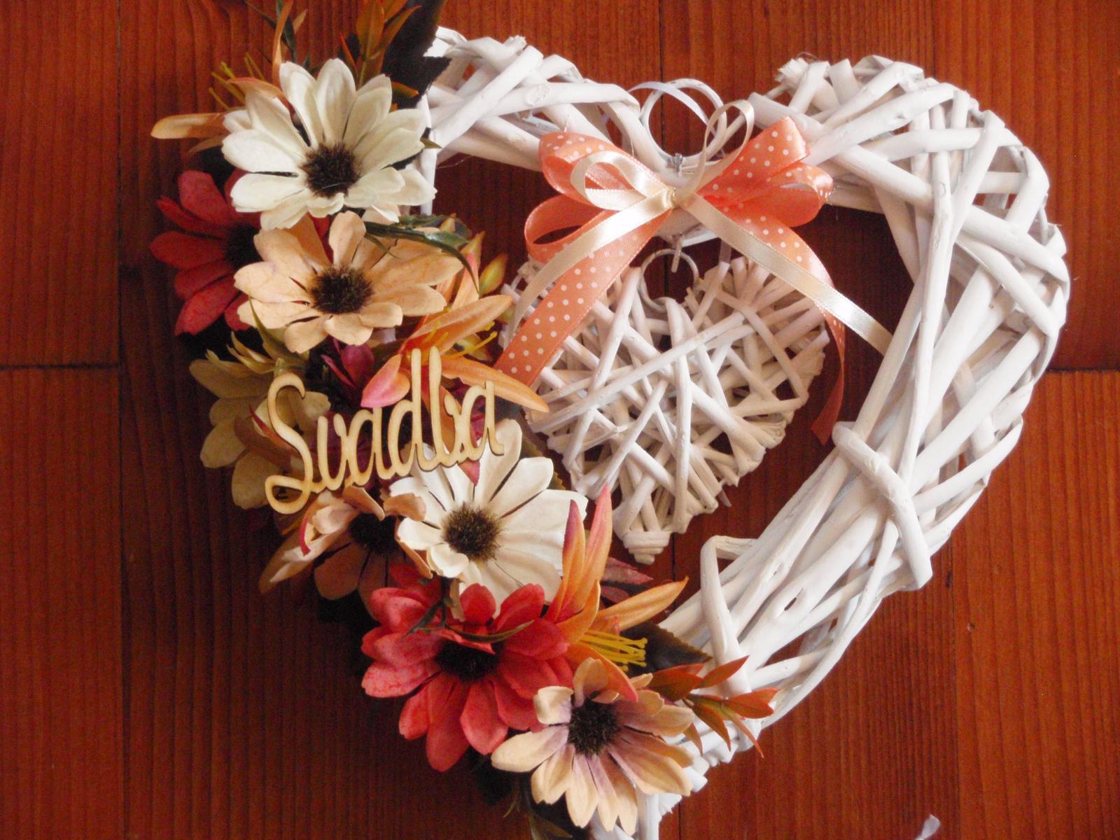 205. Jesenné srdce Svadba - Obrázok č. 1