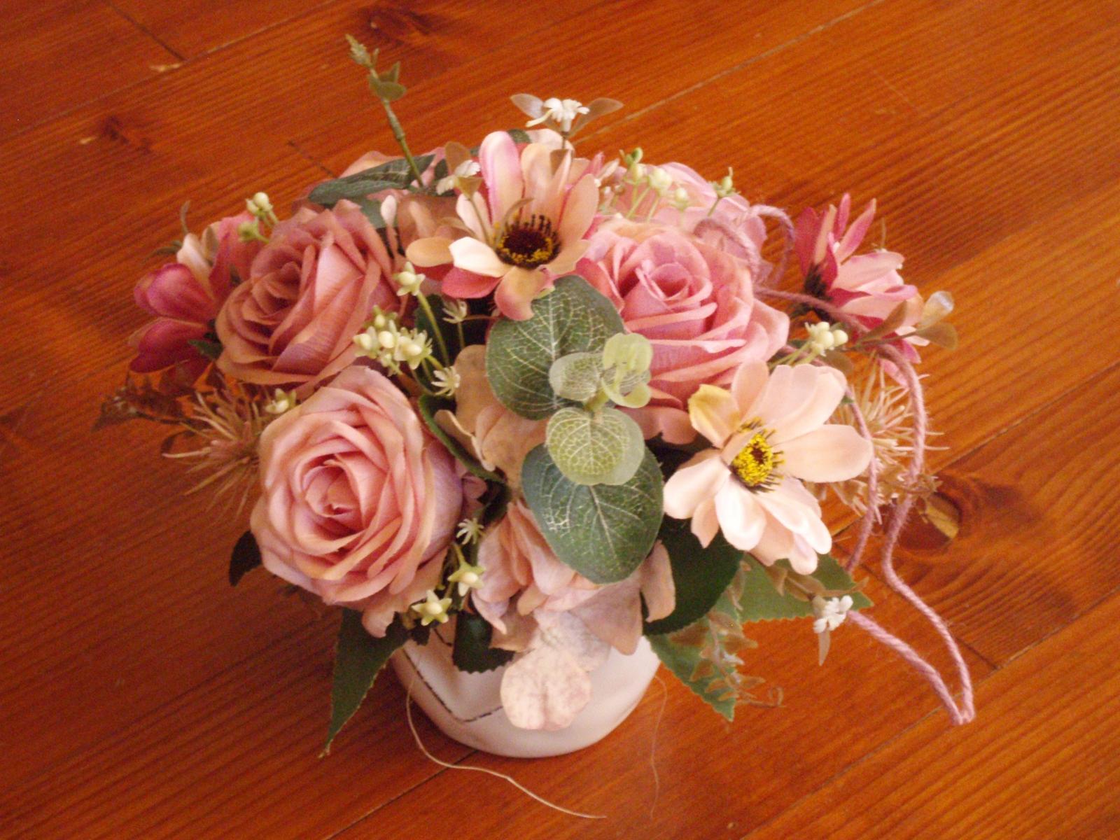 249. Vinatge dekorácia v keramike so srdcom - Obrázok č. 1