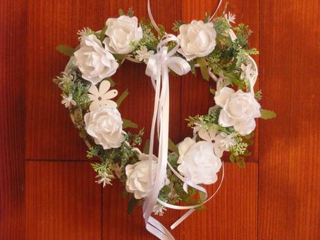 253. Biele srdce s ružami - Obrázok č. 1