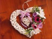 254. Ružovo-fialkové srdce,
