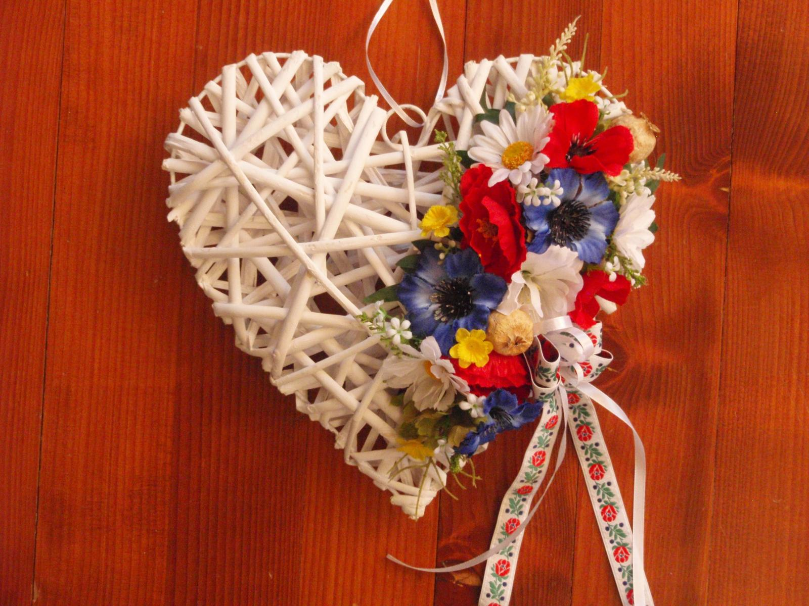 256. Folklórne srdce 30cm - Obrázok č. 1