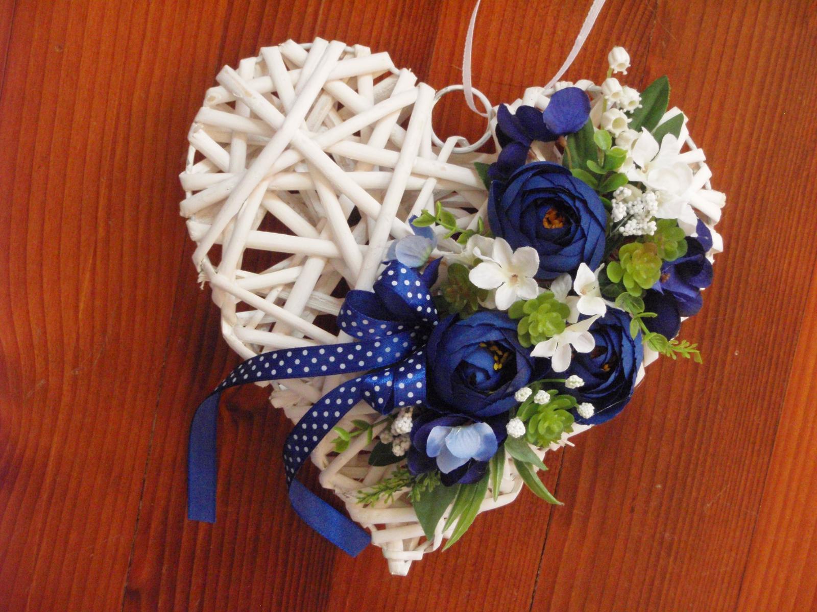 278. Srdce kráľovská modrá  - Obrázok č. 1