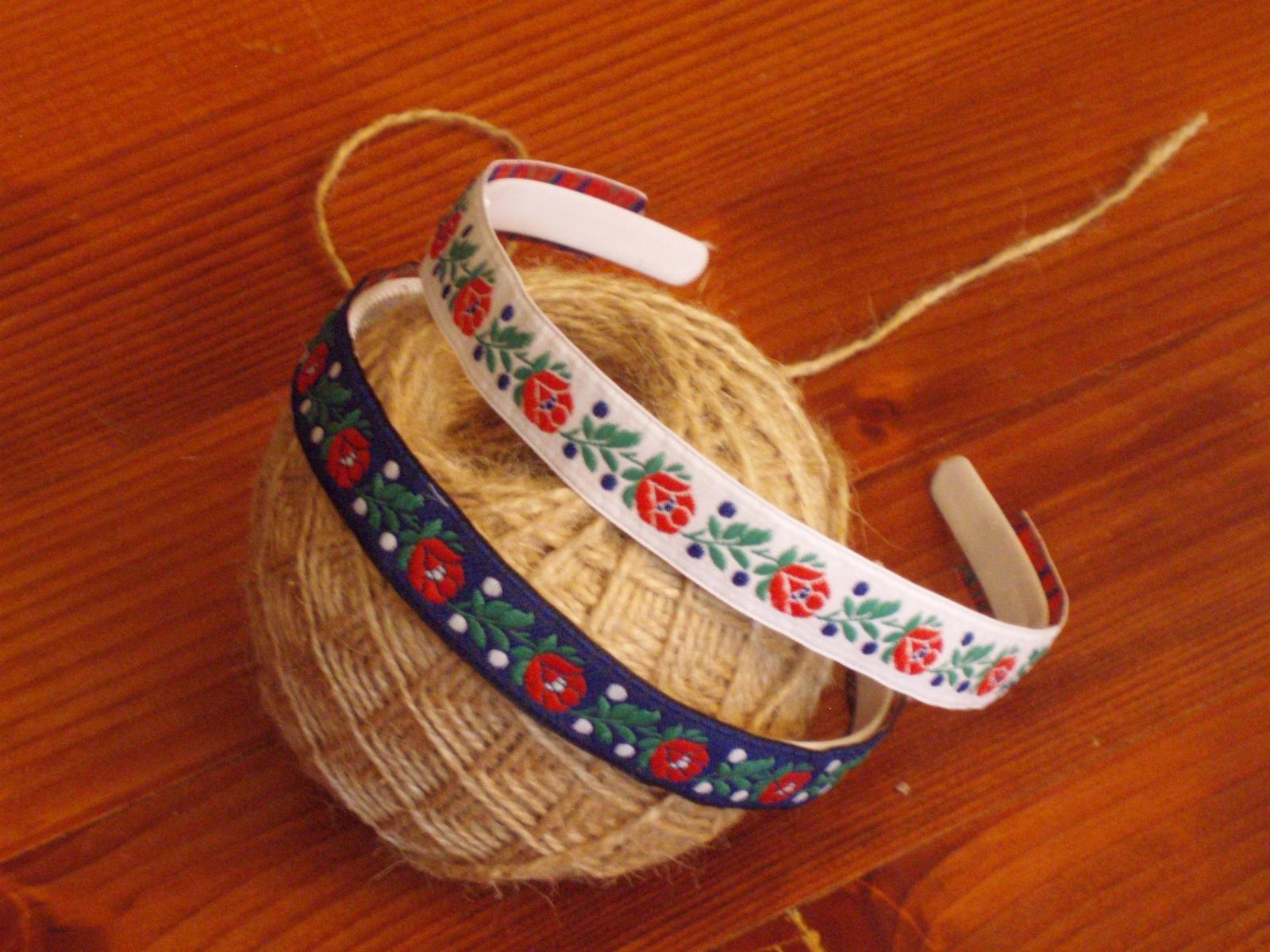 400. Folklórna čelenka 1,8cm - viac farieb - Obrázok č. 1