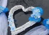 Svatební dekorace,výzdoba na auto nevěsty - srdce,