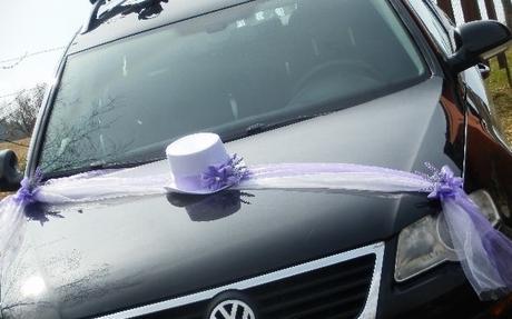 Svatební dekorace,výzdoba na auto ženicha-cylindr - Obrázek č. 1