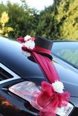 Svatební dekorace,výzdoba na auto - šerpa,