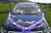 Svatební dekorace na auto - šerpa,