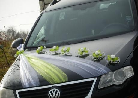 Svatební dekorace,výzdoba na auto - růže v pedigu - Obrázek č. 1