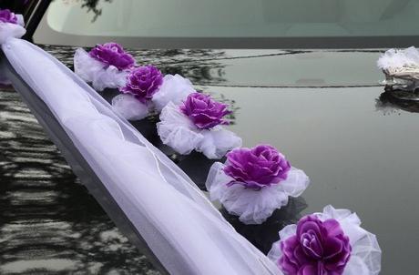 Svatební dekorace,výzdoba na auto-růže s přísavkou - Obrázek č. 1