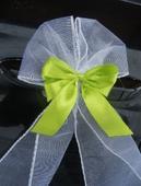 Svatební dekorace, výzdoba aut - mašle na kliky,