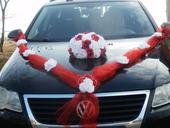 Svatební dekorace,výzdoba na auto - trs růží,buket,