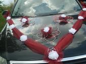 Svatební dekorace,výzdoba na auto-růže v pedigu,