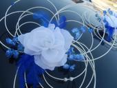 Svatební dekorace,výzdoba na auto - růže v pedigu,
