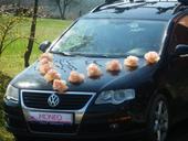 Svatební dekorace,výzdoba na auto-růže s přísavkou,