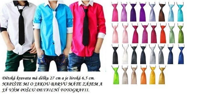 Dětská kravata v různých barvách - Obrázek č. 1