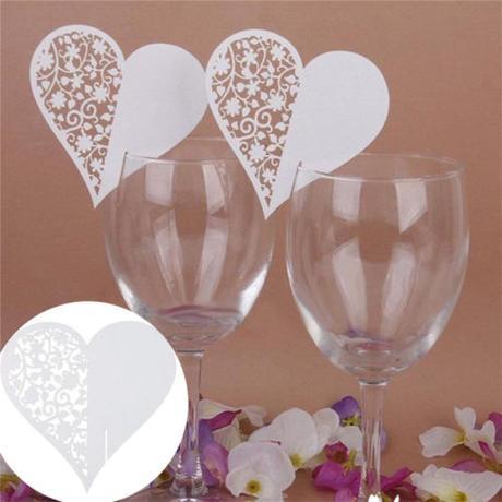 Svatební jmenovka na skleničky SKLADEM - Obrázek č. 1