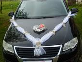 Svatební dekorace, výzdoba na auto nevěsty SRDCE,