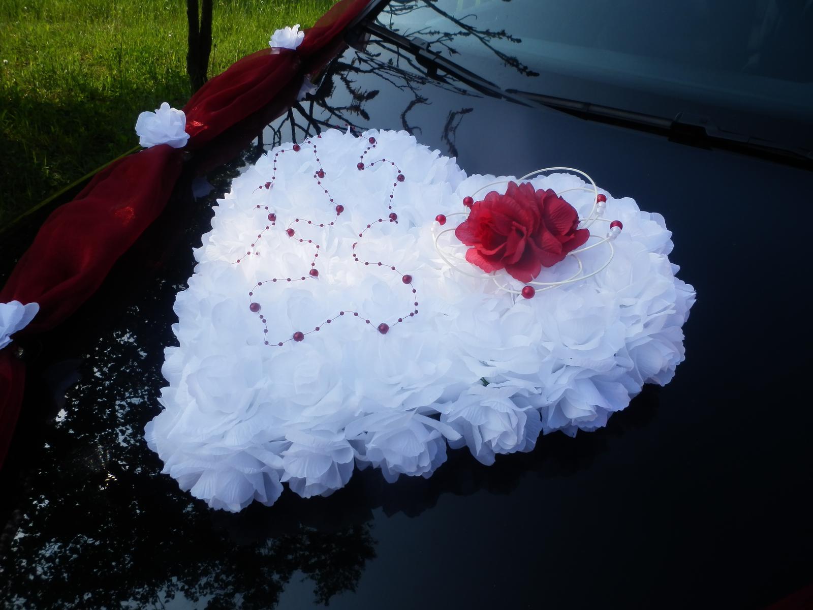 Svatební dekorace, výzdoba na auto nevěsty SRDCE - Obrázek č. 1