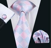 Pánský set - kravata+kapesníček+manžetové knoflíky,