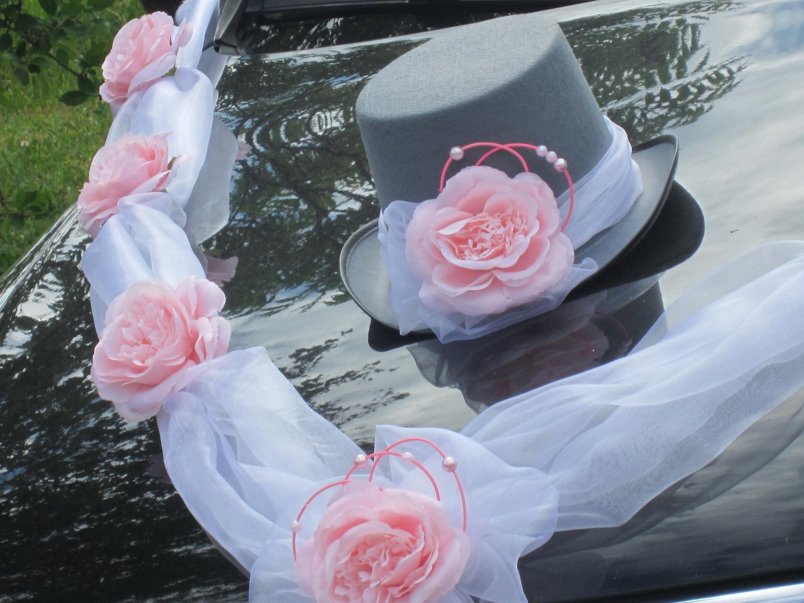 Svatební dekorace,výzdoba na auto ženicha CYLINDR - Obrázek č. 1