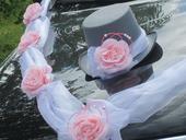 Svatební dekorace,výzdoba na auto ženicha CYLINDR,