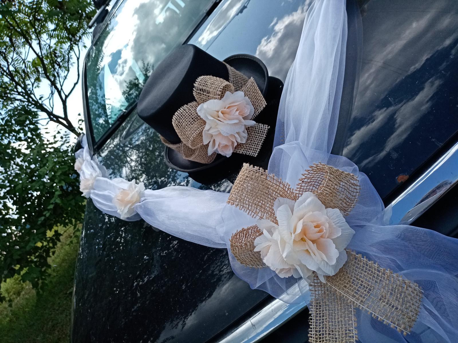 Svatební dekorace, výzdoba na auto ženicha CYLINDR - Obrázek č. 1
