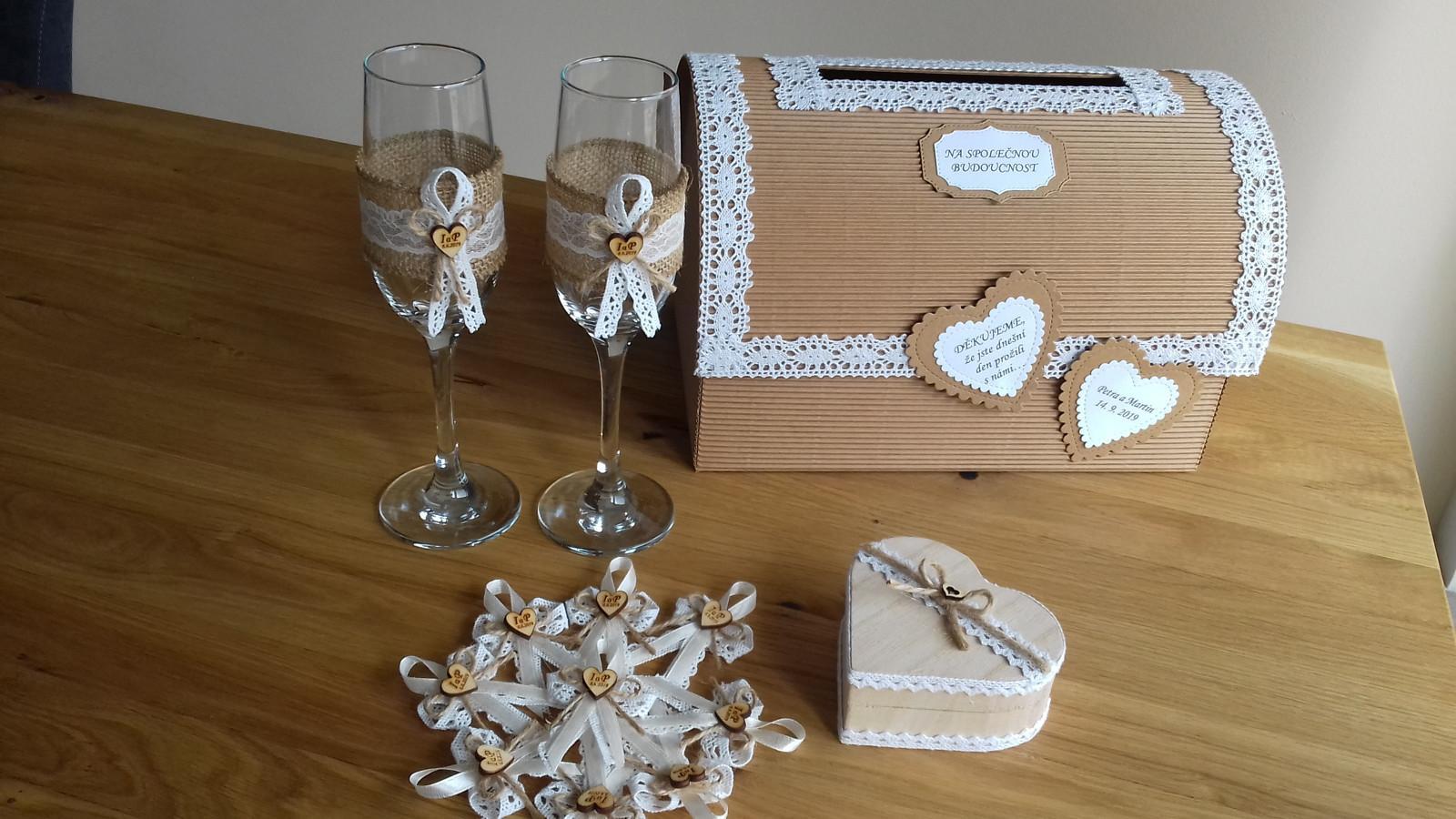 Svatební skleničky na přípitek - Obrázek č. 1