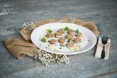Malá ukázka z našeho svateního menu - zapečené žampiony se sýrem