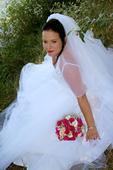 Sněhově bílé svatební šaty velikost 42-46, 46