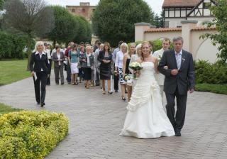 příchod svatebčanů