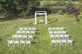 32x Svatební židle,