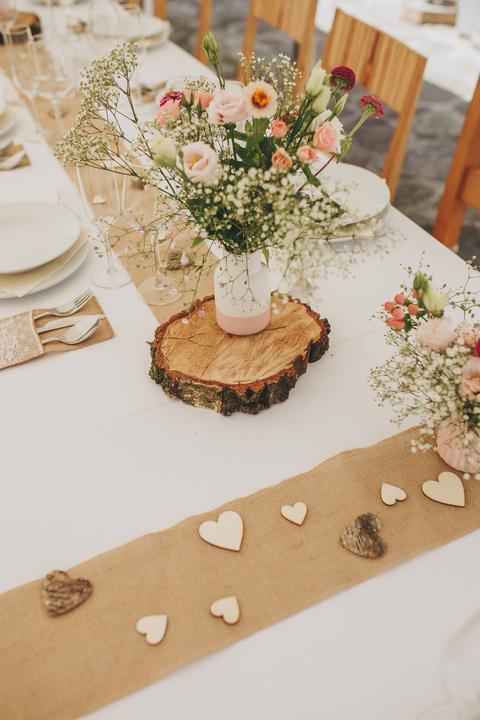 Výzdoba svatebních stolů nevěst z Bereme se - Obrázek č. 4