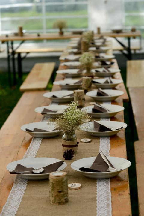 Výzdoba svatebních stolů nevěst z Bereme se - Obrázek č. 22