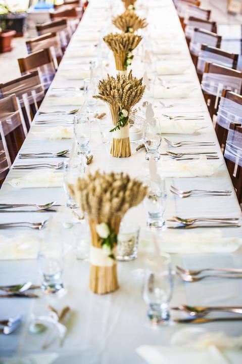Výzdoba svatebních stolů nevěst z Bereme se - Obrázek č. 86