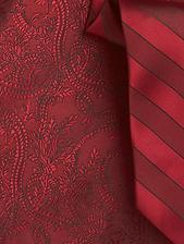 detail vesty s kravatou