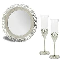 Svatební sada (2 sklenice na sekt + talířek)  - Obrázek č. 3