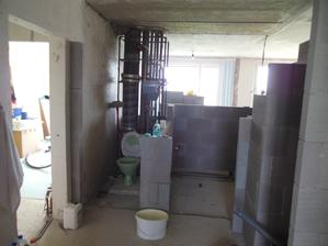 Budoucí koupelna a záchod