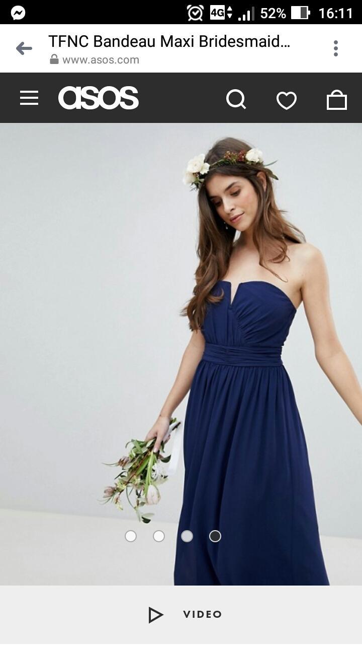 Modré popolnočné šaty vo veľkosti 36 - Obrázok č. 1