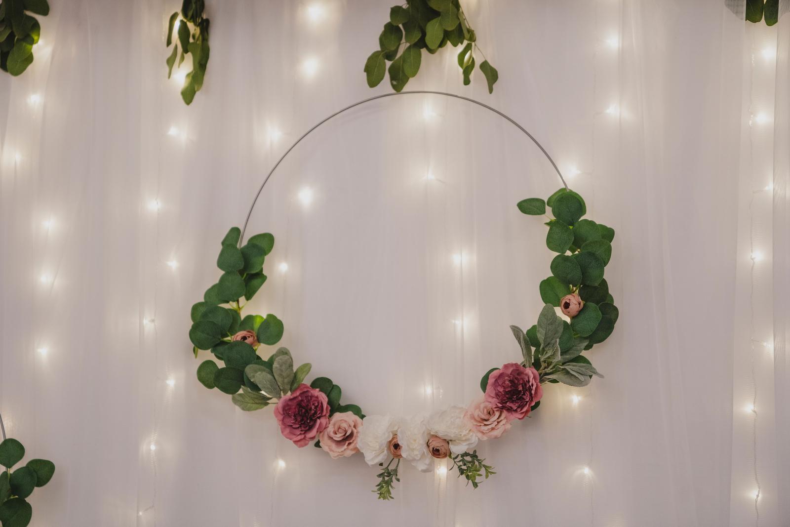 Květinové kruhy 60 cm, stříbrné - Obrázek č. 1
